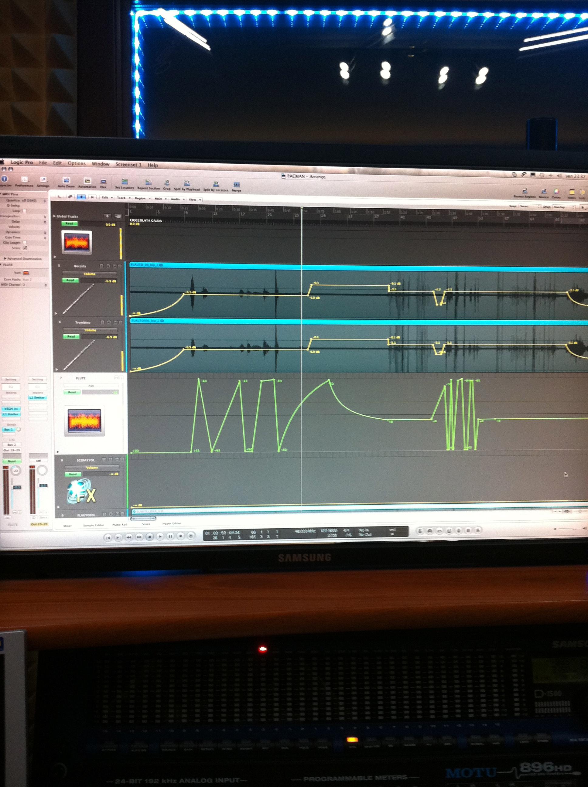 Editing with Alberto Igne at Sphera Studio - Gaiarine (TV)
